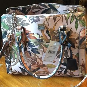 NWT Nine West Floral Handbag